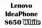 Lenovo IdeaPhone S650 White