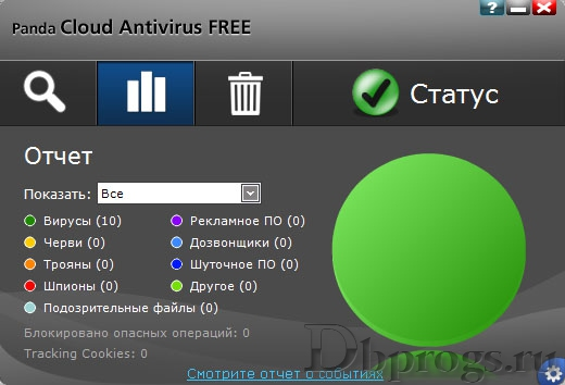 Скриншот Panda Cloud Antivirus Free