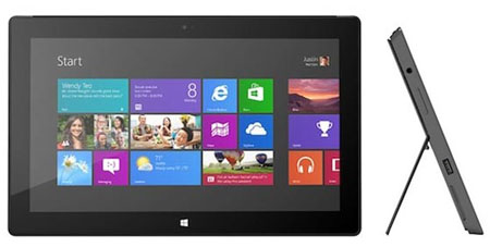 Планшет Microsoft Surface с Windows 8 Pro